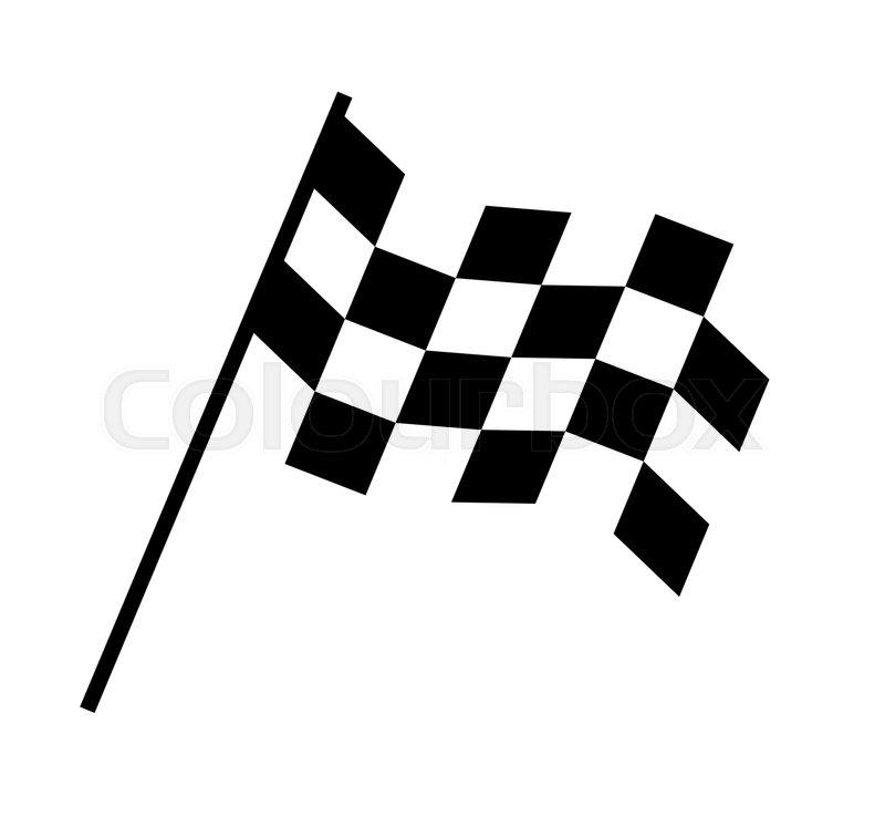 checkered flag design eps 8 supported stock vector colourbox rh colourbox com  chequered flag logo