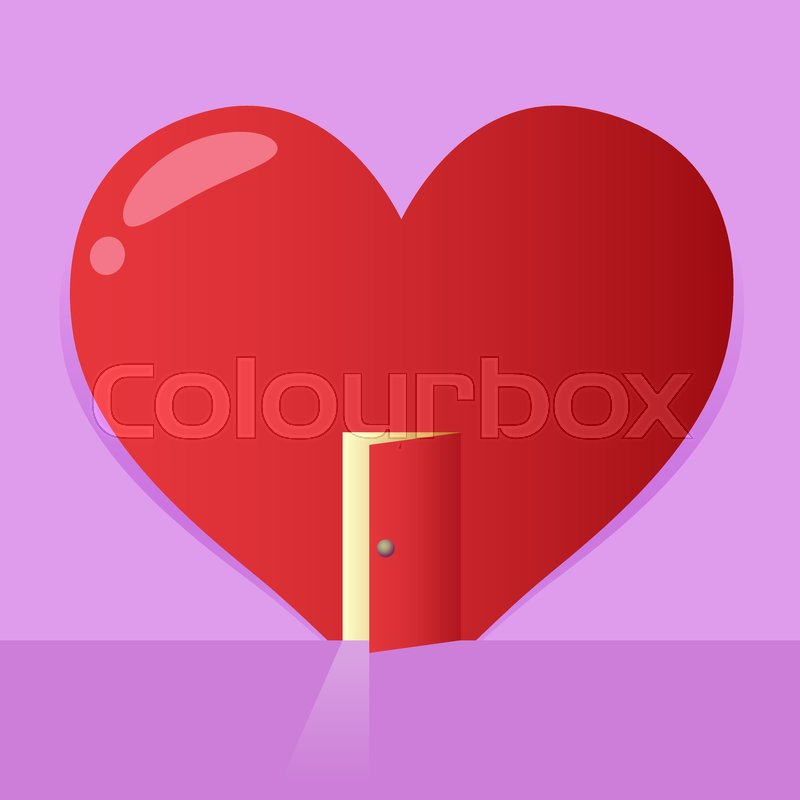Vector Stock Of A Big Heart Symbol With An Open Door Valentines