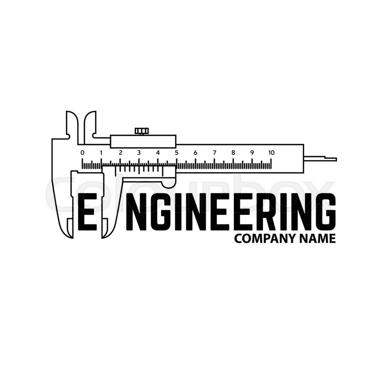 Engineering Company Logo Template On The White Background Vector