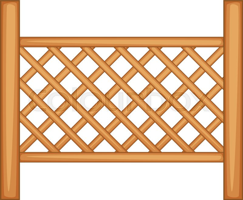 grid of wooden fence icon cartoon illustration of grid of wooden