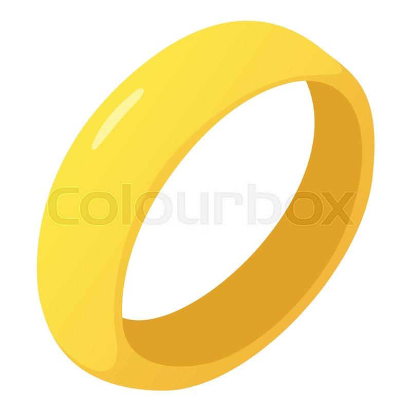 Golden ring icon. Cartoon illustration of golden ring vector icon ...