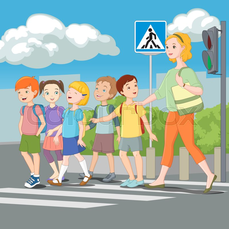 boy crossing the street clip art clipart amp vector design