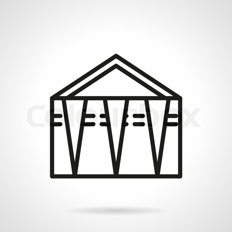 Abstract Symbol Of Trade Tent Or Canopy Objects For Street Trading