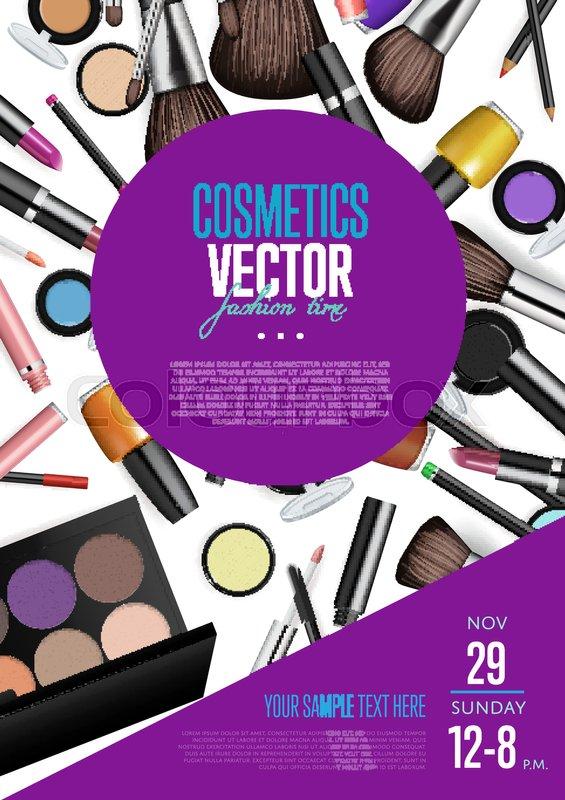 cosmetics product presentation poster