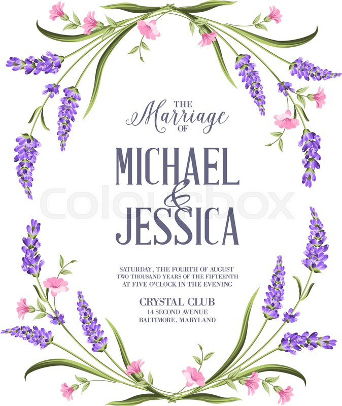 Marriage invitation card with custom ... | Stock Vector ...
