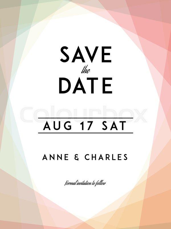 Modern Wedding Save The Date Template Modern Design Save The Date - Save the date text template