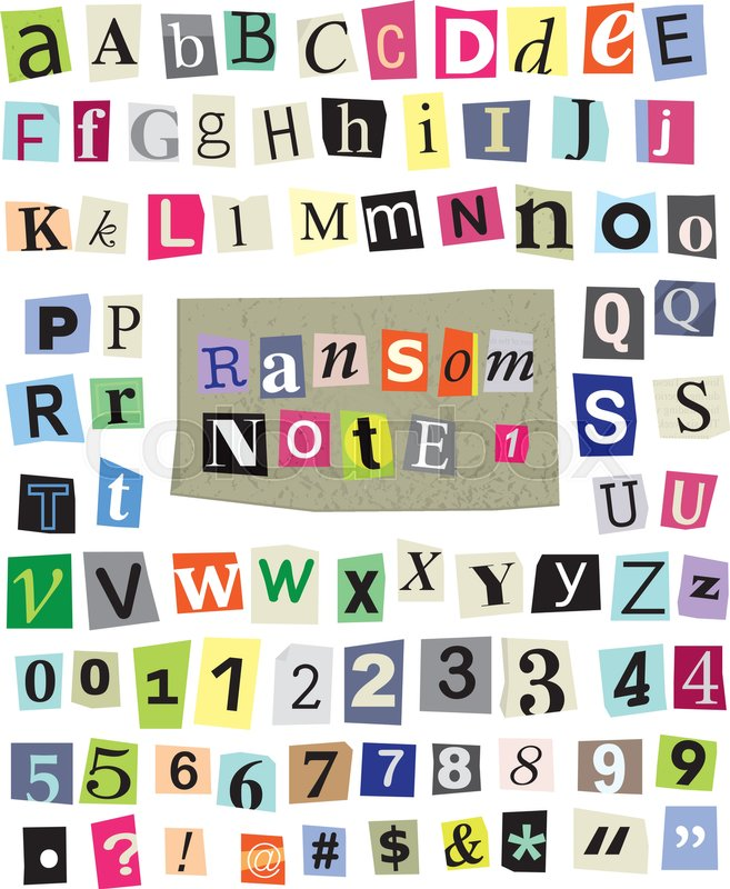 Vector cut newspaper and magazine letters numbers and symbols stock vector of vector cut newspaper and magazine letters numbers and symbols spiritdancerdesigns Images