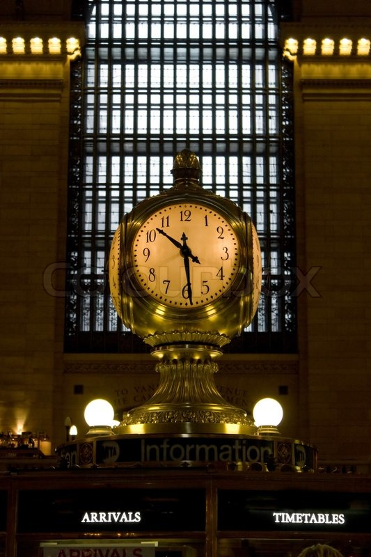 The Old Antique Clock In The Center Of Stock Photo