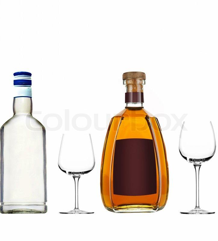 verschiedene flaschen mit alkohol stockfoto colourbox. Black Bedroom Furniture Sets. Home Design Ideas