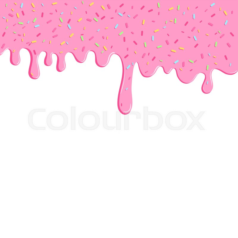 background with pink donut glaze many decorative sprinkles easy to change colors pattern chocolate cake slice clipart chocolate birthday cake clipart