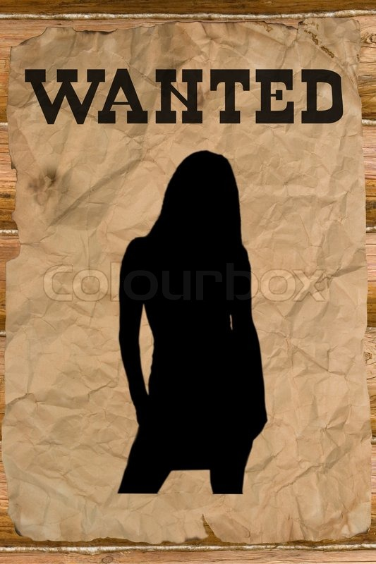 Wild West Outlaw Wanted poster with a f...