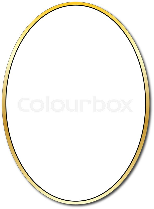 Gold Oval Frame