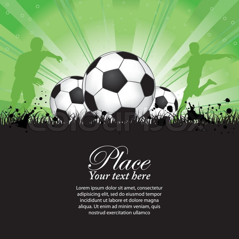 Fußball-Spieler mit Ball auf Grunge Hintergrund , Element für Design ...