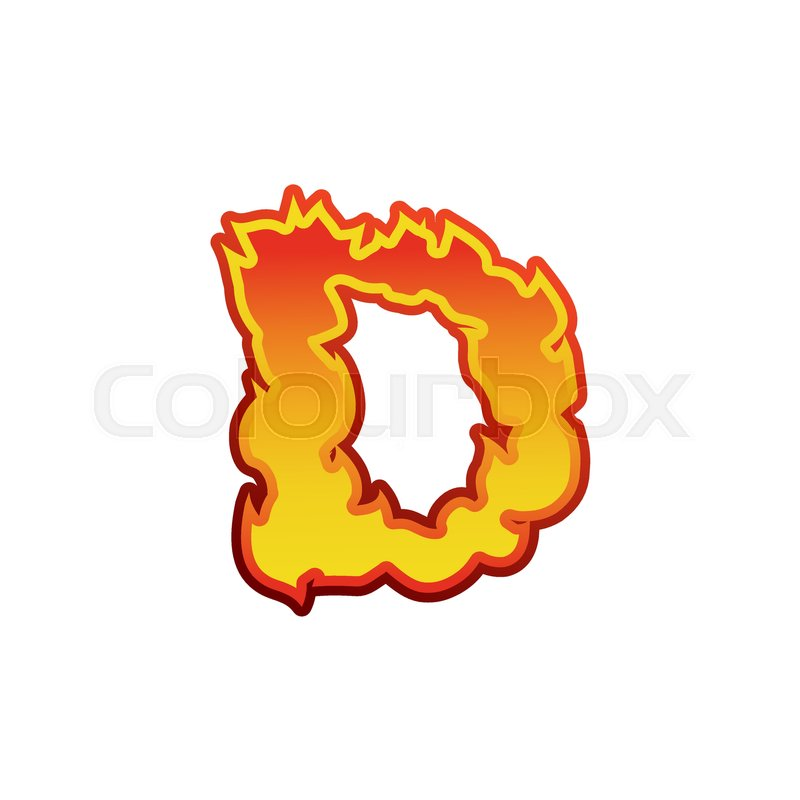 Letter d fire flames font lettering tattoo alphabet character letter d fire flames font lettering tattoo alphabet character fiery sign alphabet stock vector colourbox thecheapjerseys Images
