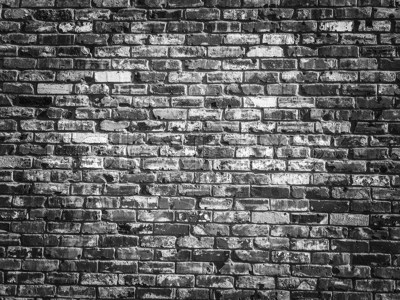 Gray Cartoon Brick Wall Texture : Old grey vintage brick wall texture background with darker