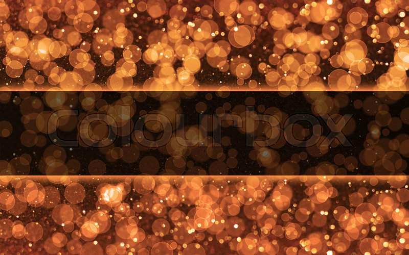 Rose gold and black glitter bokeh background with copy space, stock photo