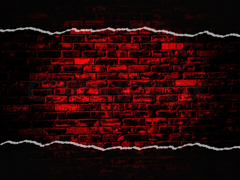 old black red vintage brick wall texture background with