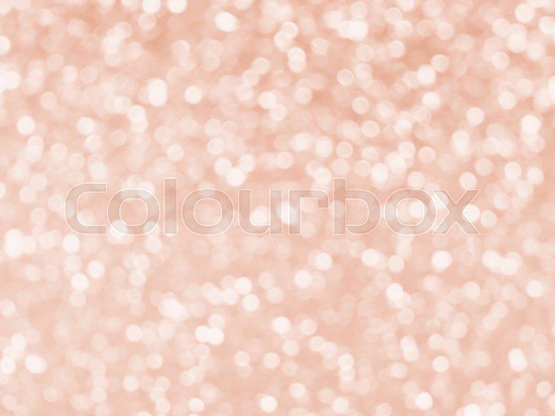Rose gold glitter bokeh texture background, stock photo