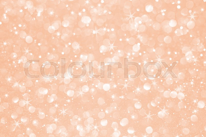 Rose gold glitter bokeh with stars abstract background, stock photo