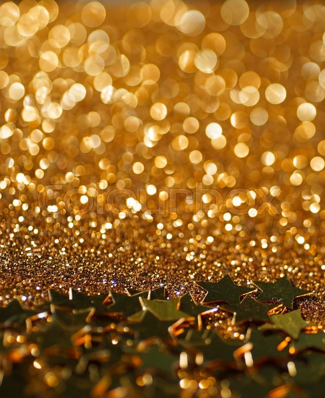 Rose gold stars glitter abstract twinkled bright background , stock photo