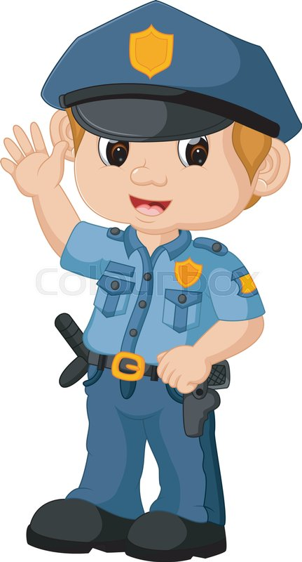 Policeman cartoon Stock Vector Colourbox