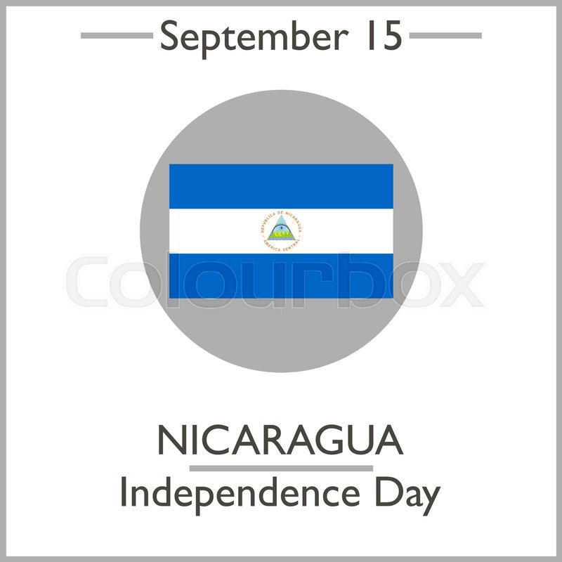 nicaragua independence day september 15 vector illustration for