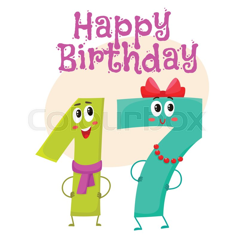 happy birthday vector greeting card poster banner design with cute rh colourbox com birthday vector free birthday vector ai