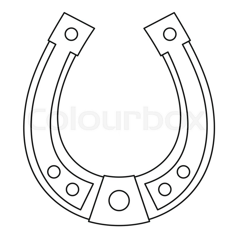 horseshoe icon outline illustration of horseshoe vector icon for rh colourbox com horseshoe vector lines horseshoe vector art