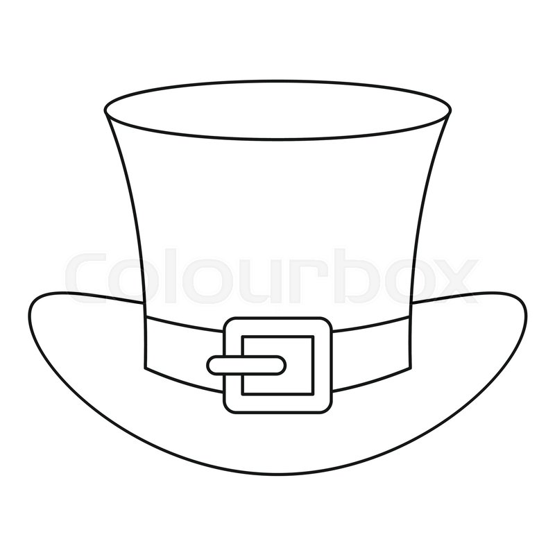 Leprechaun Hat Icon Outline Illustration Of Leprechaun