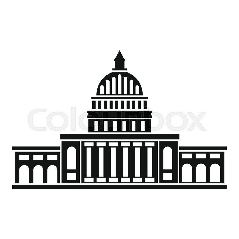 white house icon simple illustration of white house vector icon for rh colourbox com white house vector clip art free White House Top View