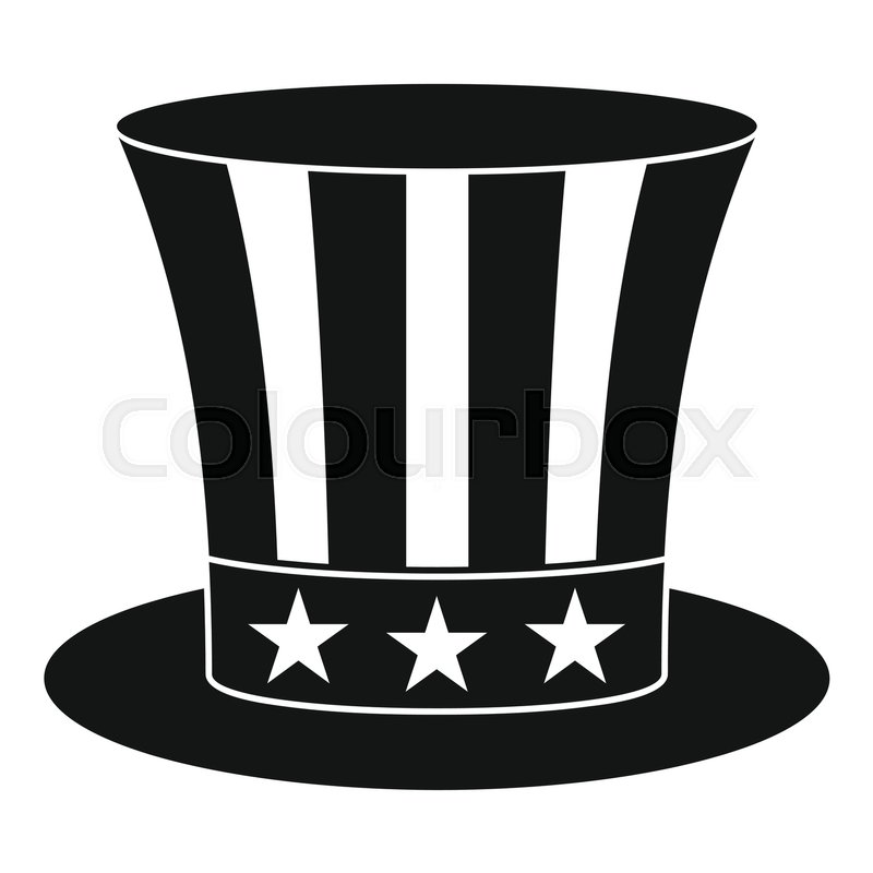 uncle sam hat icon simple illustration of uncle sam hat vector icon rh colourbox com uncle sam vector free download uncle sam i want you vector