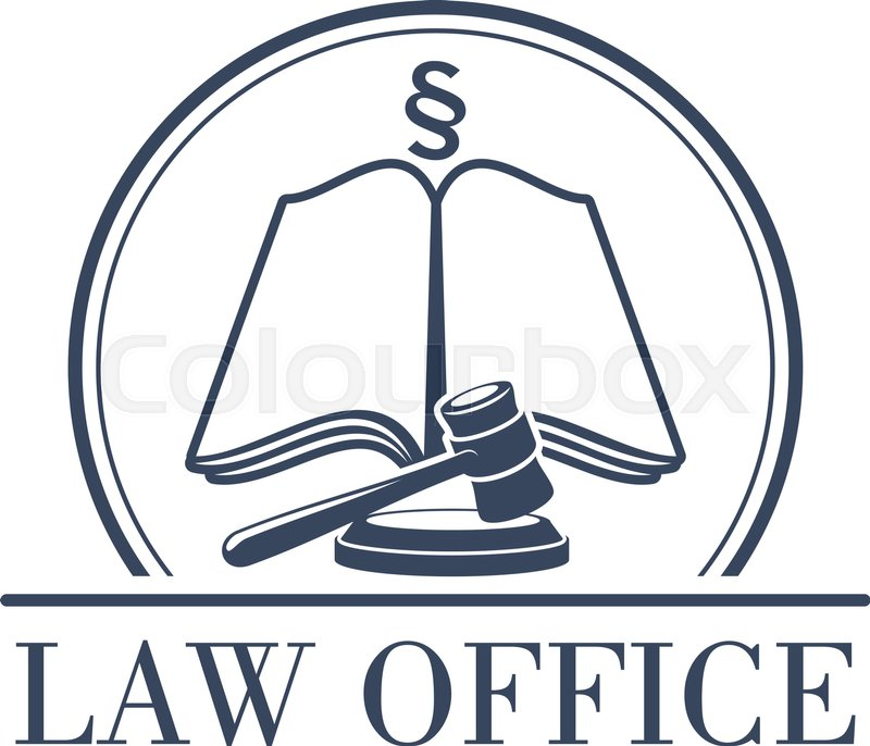 Legal Office Or Center Icon With Symbol Of Judge Gavel Justice Law
