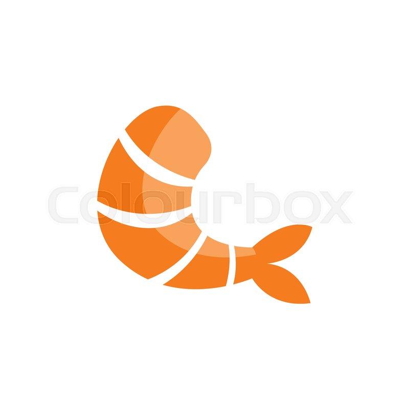 one cooked shrimp without shell primitive cartoon icon part of rh colourbox com Shrimp Logos Clip Art Cute Shrimp Clip Art