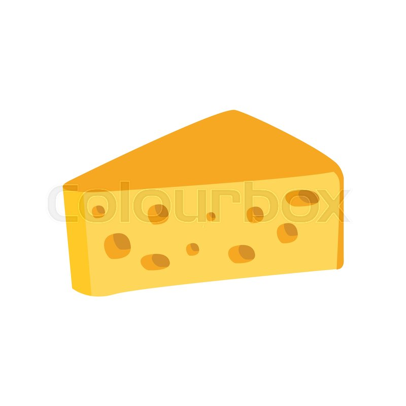 big piece of swiss cheese with holes primitive cartoon icon part of rh colourbox com