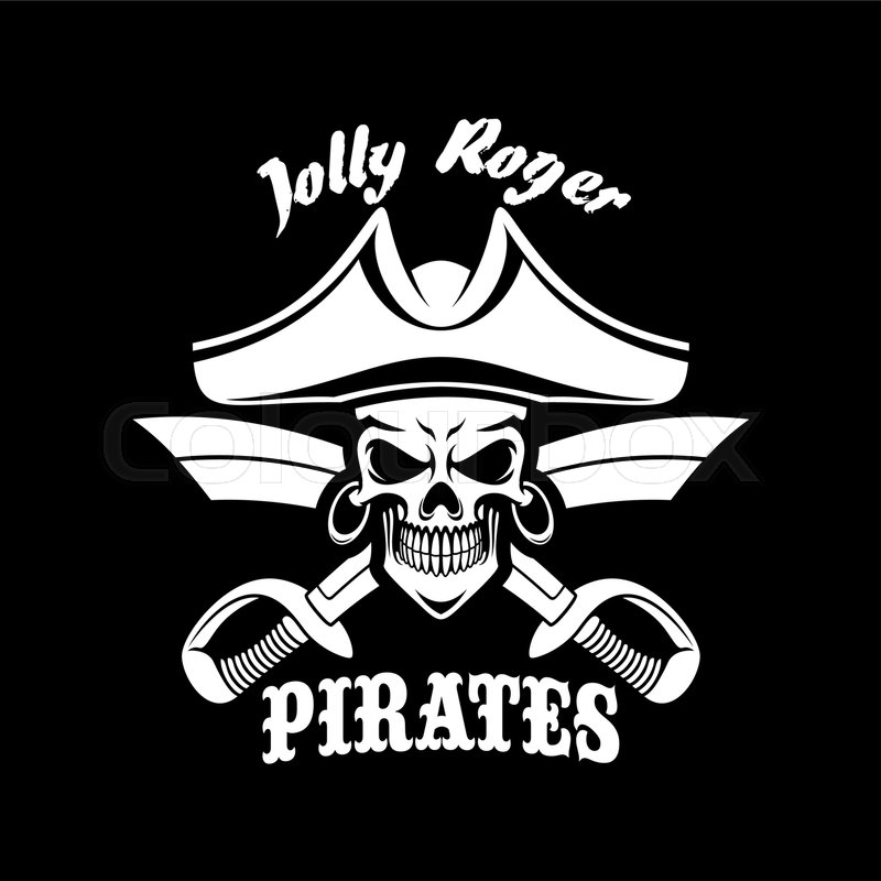 Jolly Roger Pirate Symbol Or Vector Black Flag Or Poster Piracy