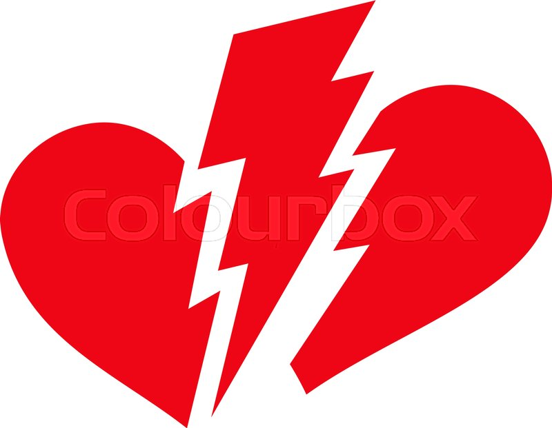 broken heart flat icon vector red symbol pictograph is isolated on rh colourbox com broken heart icon vector broken heart vector art