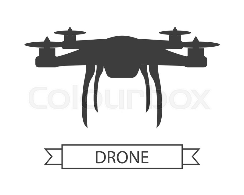 drone icon isolated on white  unmanned