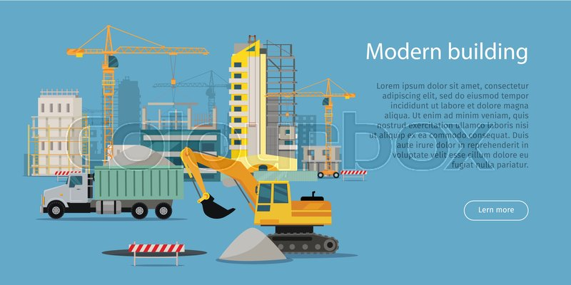 Construction Equipment Banners Subdivision Banners