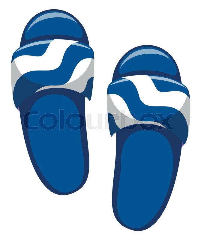 570ff459fdb27 Stock vector of  Pair of blue sandals illustration