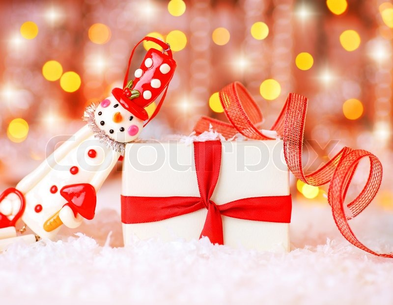 Christmas Holiday Background Photograph By Anna Om: Holiday Background With Cute Snowman Christmas Tree