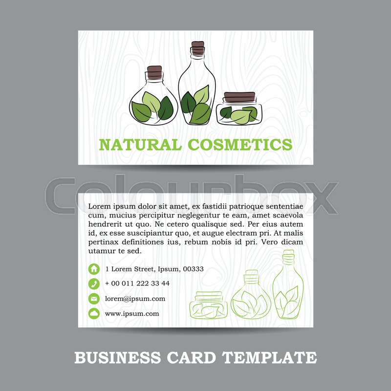 Vector natural cosmetics shop business card template eps stock stock vector of vector natural cosmetics shop business card template eps colourmoves