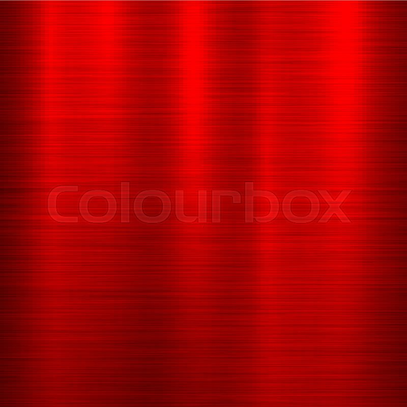 Red Metal Abstract Technology Background With Polished