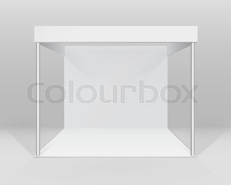 Exhibition Booth Blank : Simple design abstract white exhibition booth stock illustration
