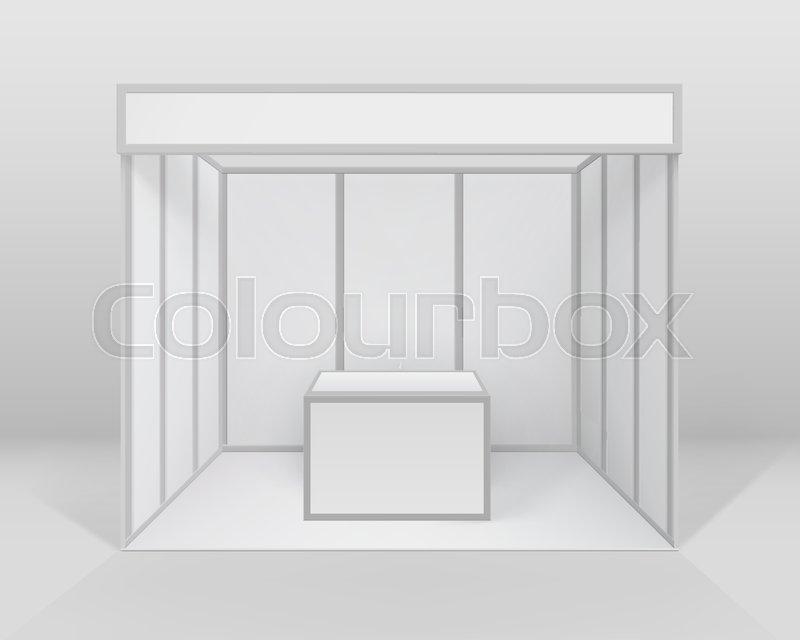 Trade Exhibition Stand Vector : Blank trade exhibition stand vector template stock vector royalty