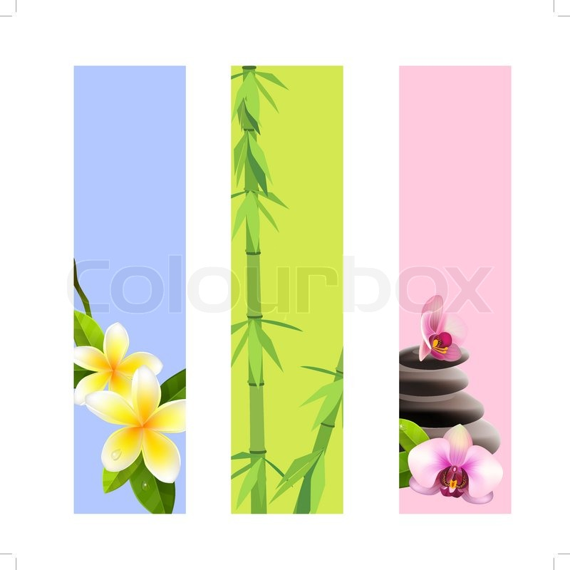 Collection Of Vertical Spa Banners Stock Vector