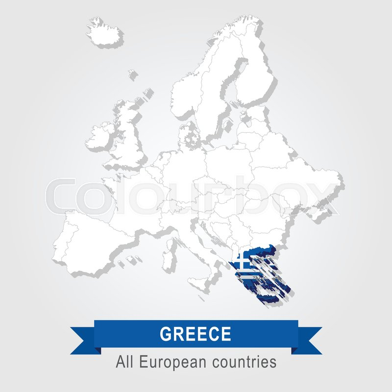 Greece. Europe administrative map. | Stock Vector | Colourbox