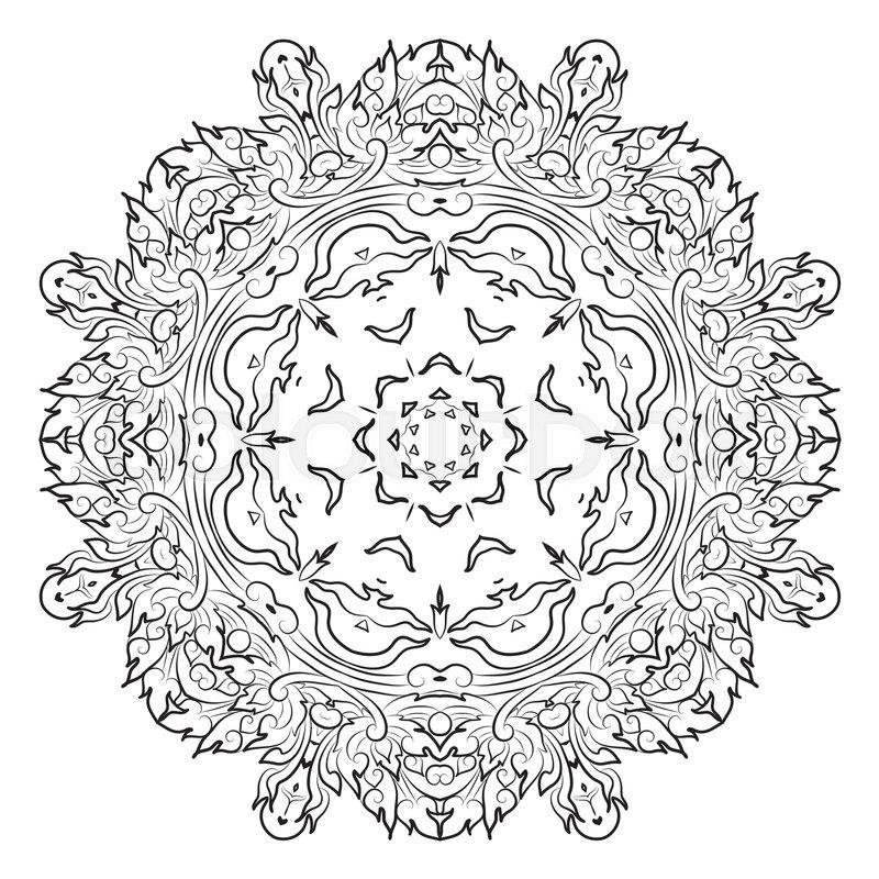 Vector illustration of mandala, vintage decorative element. EPS ...