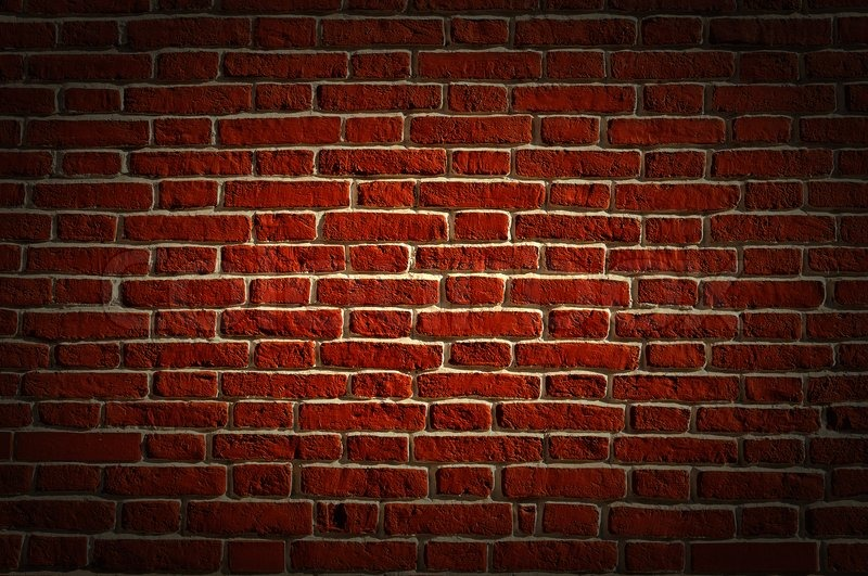 Old Red Bricks Wall Grunge Background Stock Photo