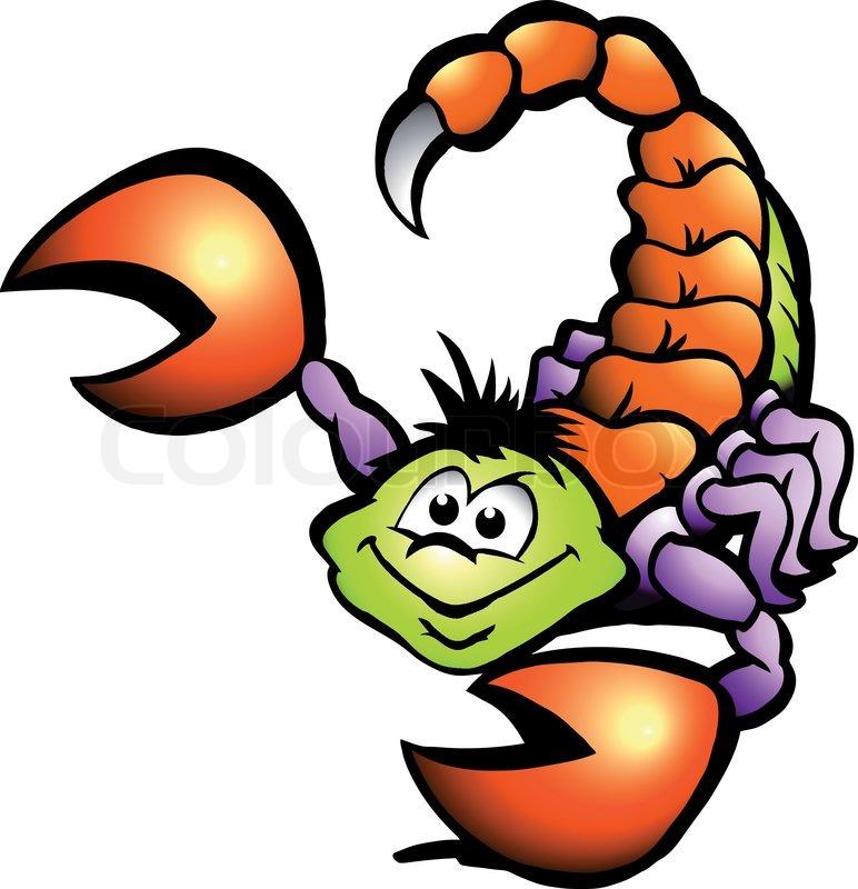 Hand Gezeichnet Vektor Illustration Von Einem Danger Scorpion
