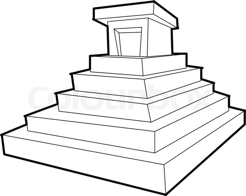 Eastern Castle Icon Outline Illustration Of Vector For Web